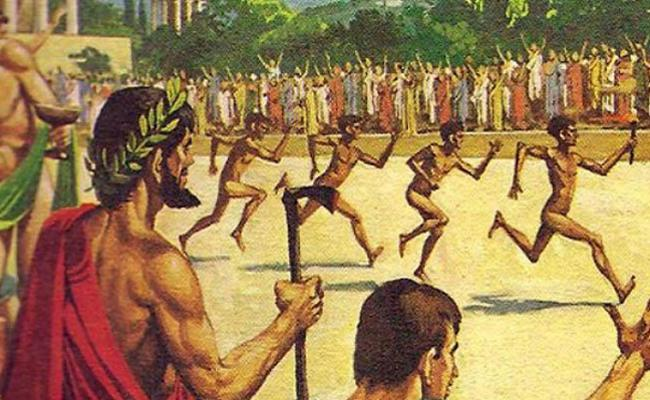 ancient olympic games If you were visiting the ancient olympics, you wouldn't see: women: the women were forbidden to participate in or even observe the games any woman discovered there could be thrown off a cliff.