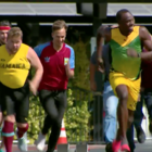 Medium 100m race usain bolt vs james corden and owen wilson 1